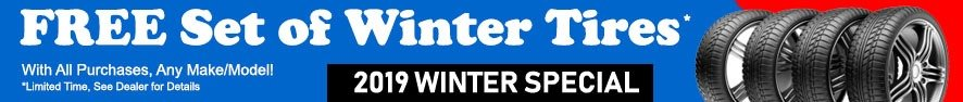 Free Winter Tires on ALL Vehicle Purchases! Contact Us
